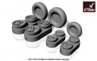 AR AW48312    1/48 F-104G Starfighter wheels (w/ optional nose wheels) (attach1 12480)