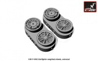 AR AW48312    1/48 F-104G Starfighter wheels (w/ optional nose wheels) (attach2 12480)