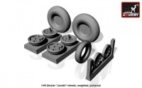 AR AW48401    1/48 Gloster «Javeline» wheels, weighted (attach1 12489)