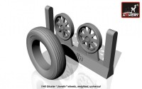 AR AW48401    1/48 Gloster «Javeline» wheels, weighted (attach3 12489)