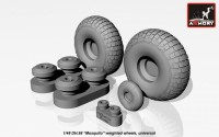 AR AW48402    1/48 DH.98 «Mosquito» wheels, «checkerboard» tire pattern, weighted (attach1 12494)