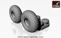 AR AW48402    1/48 DH.98 «Mosquito» wheels, «checkerboard» tire pattern, weighted (attach2 12494)