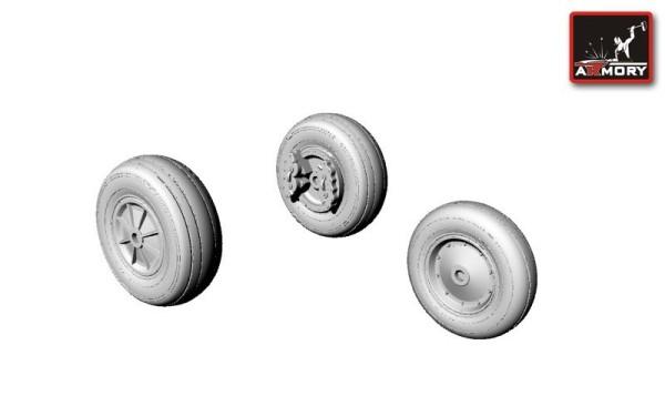 AR AW48301   1/48 T-28 Trojan wheels (thumb12442)