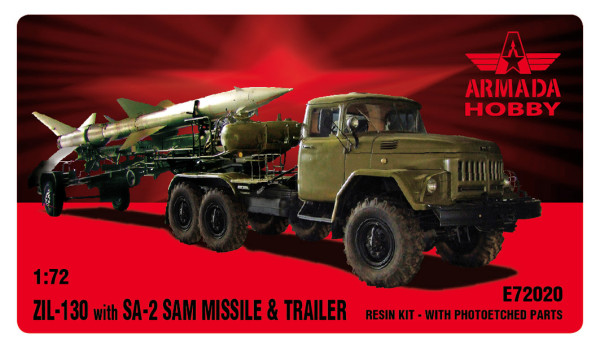 AME72020   ZIL-131 with SA-2 Missile and Trailer (thumb12050)