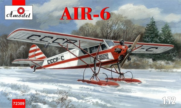 AMO72309   AIR-6 Soviet monoplane on skis (thumb15523)