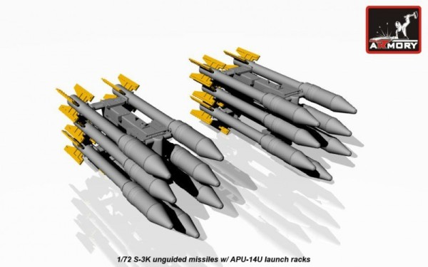 AR ACA7273    1/72 S-3K unguided missiles w/ APU-14U rack (thumb12666)