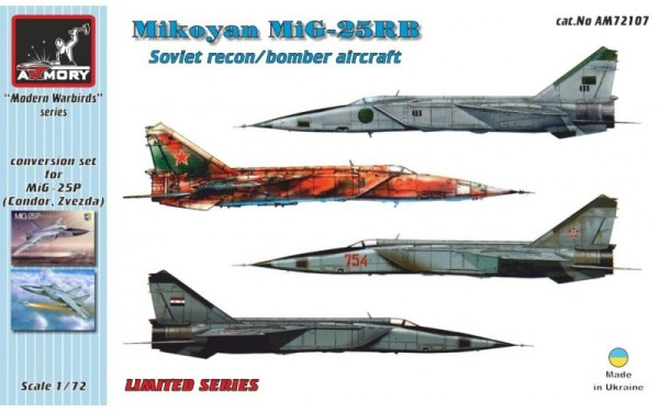AR AM72107    1/72 Mikoyan MiG-25RB recon/bomber conversion set (thumb12642)