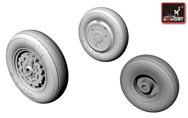 AR AW72009    1/72 Sukhoj Su-7BKL wheels (thumb12715)