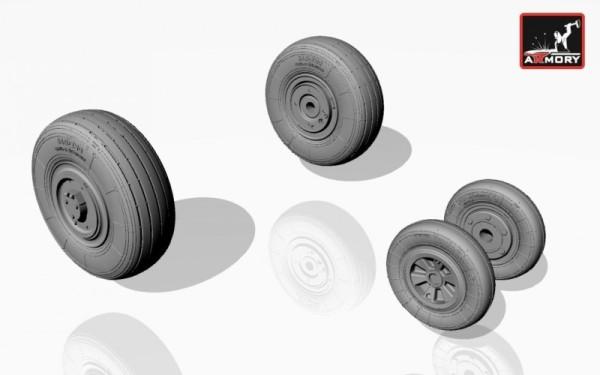 AR AW72014    1/72 Mikoyan МiG-23,23P(early) wheels (thumb12735)
