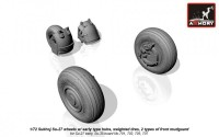 AR AW72032b    1/72 Sukhoj Su-27 wheels w/ early type hubs, weighted tires, 2 types of front mudguard (attach2 12813)