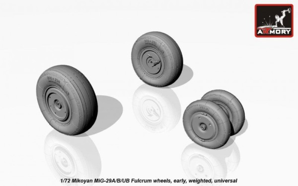 AR AW72037    1/72 Mikoyan MiG-29A/B/UB Fulcrum weighted wheels, early (thumb12832)