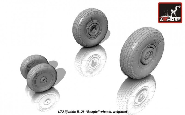 AR AW72040    1/72 Iljushin IL-28 Beagle wheels, weighted (thumb12838)