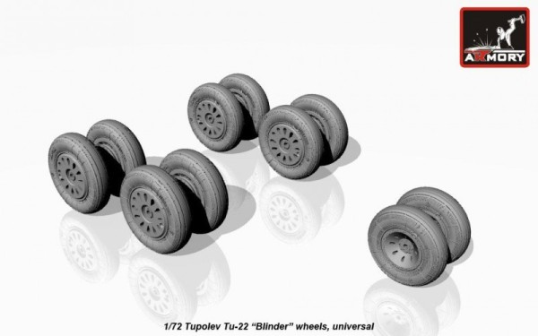 AR AW72043    1/72 Tupolev Tu-22 Blinder wheels (thumb12856)