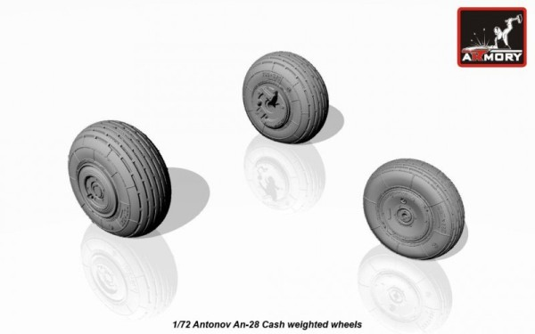 AR AW72044    1/72 Antonov An-28 Cash wheels w/ weighted tires (thumb12865)