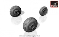 AR AW72044    1/72 Antonov An-28 Cash wheels w/ weighted tires (attach3 12865)