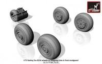 AR AW72045    1/72 Sukhoj Su-32/34 wheels w/ weighted tires, front mudguard (attach2 12870)