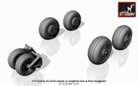AR AW72045    1/72 Sukhoj Su-32/34 wheels w/ weighted tires, front mudguard (attach1 12870)