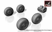 AR AW72045    1/72 Sukhoj Su-32/34 wheels w/ weighted tires, front mudguard (attach3 12870)