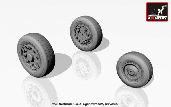 AR AW72309    1/72 Northrop F-5E/F Tiger-II wheels (thumb12907)