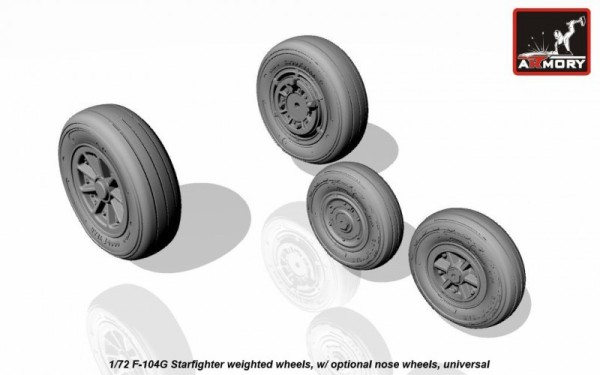 AR AW72312    1/72 F-104G Starfighter wheels (w/ optional nose wheels) (thumb12919)