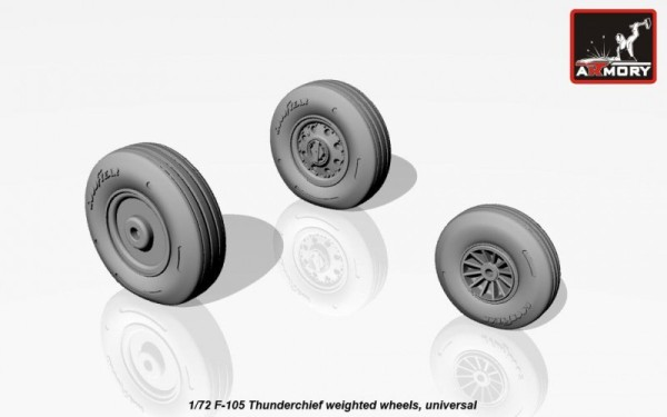 AR AW72313    1/72 F-105 Thunderchief wheels, weighted (thumb12924)