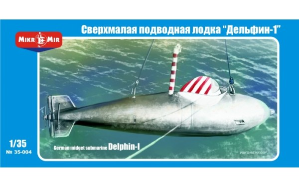 MMir35-004    German midget submarine 'Delphin-1' (thumb13486)