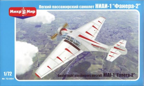 """MMir72-004    NIAI-1 """"Fanera-2"""" Soviet light passenger aircraft (thumb13598)"""