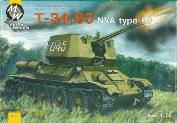 MW7210     T-34-85 NVA type 63 Soviet WWII medium tank (thumb13349)