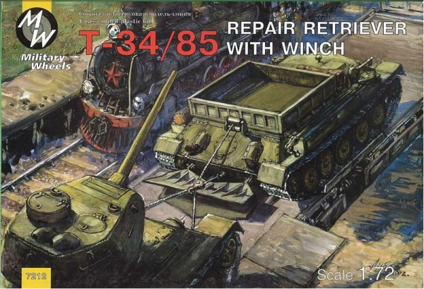 MW7212     T-34-85 Soviet WWII repair retriever with winch (thumb13353)