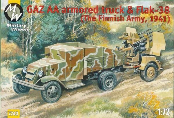 MW7243     GAZ AA armored truck & Flak-38, Finland 1941 (thumb13397)