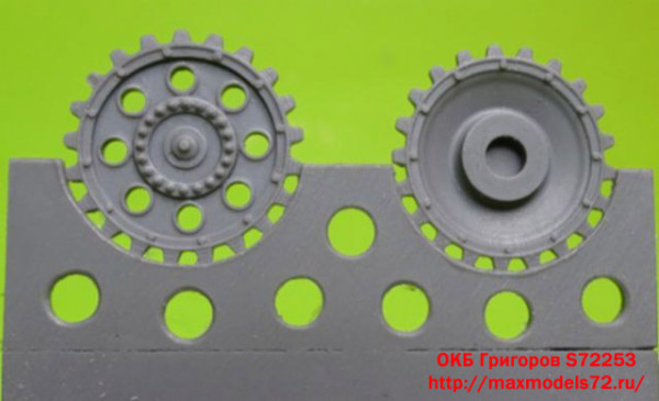 OKBS72253     Sprockets for Pz.III, early without hub cap (8 per set) (thumb14323)