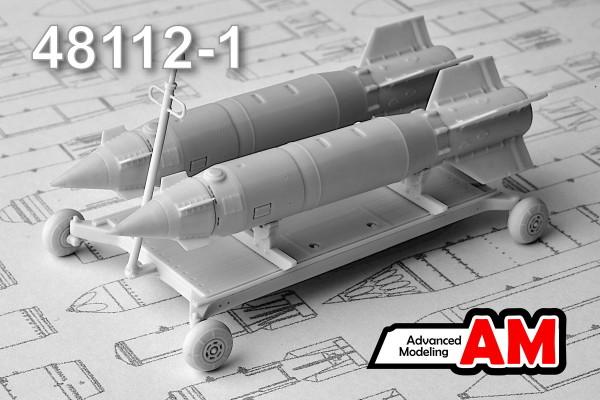 АDМС 48112-1     Тележка для транспортировки боеприпасов с двумя КАБ-500С (thumb13922)