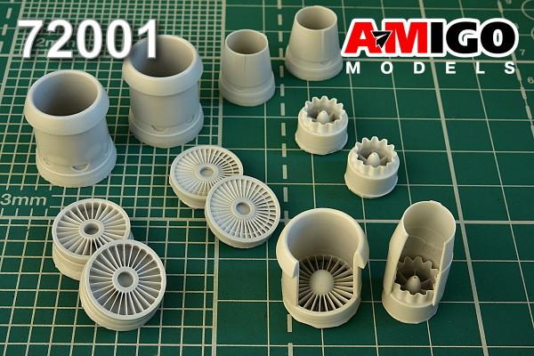 ADMG 72001     Авиационный двигатель Д-30 самолета  Ту-134А3/Б3.  Для модели самолета Ту-134А «А- Модел» (thumb13935)