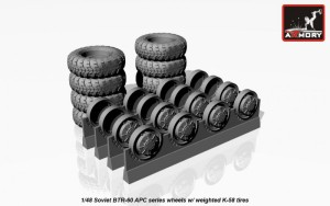 AR AC4801   1/48 BTR-60 APC Soviet armored carrier wheels set (thumb17317)