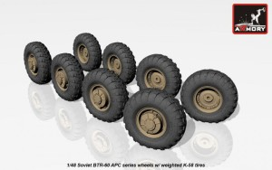 AR AC4801   1/48 BTR-60 APC Soviet armored carrier wheels set (attach1 17317)