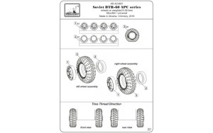 AR AC4801   1/48 BTR-60 APC Soviet armored carrier wheels set (attach5 17317)
