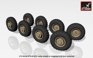 AR AC7322   1/72 BTR-60 APC wheels w/ weighted tires K-58 (attach1 17324)