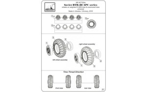 AR AC7324a   1/72 BTR-80 APC wheels w/ weighted tires KI-80N (attach5 17338)
