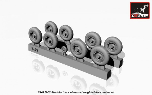 AR AW14304   1/144 Boeing B-52 wheels, weighted (thumb17311)
