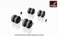 AR AW14304   1/144 Boeing B-52 wheels, weighted (attach2 17311)