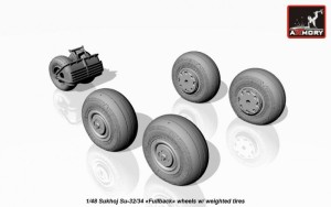 AR AW48025   1/48 Sukhoj Su-32/34 wheels w/ weighted tires (attach3 17290)