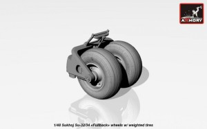 AR AW48025   1/48 Sukhoj Su-32/34 wheels w/ weighted tires (attach6 17290)