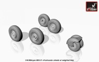 AR AW48026   1/48 Mikoyan MiG-31 wheels w/ weighted tires (attach1 17299)
