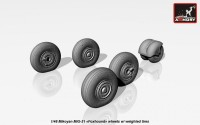 AR AW48026   1/48 Mikoyan MiG-31 wheels w/ weighted tires (attach2 17299)