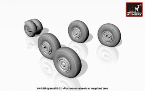 AR AW48026   1/48 Mikoyan MiG-31 wheels w/ weighted tires (attach3 17299)