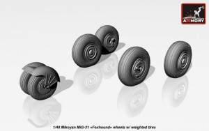 AR AW48026   1/48 Mikoyan MiG-31 wheels w/ weighted tires (attach4 17299)