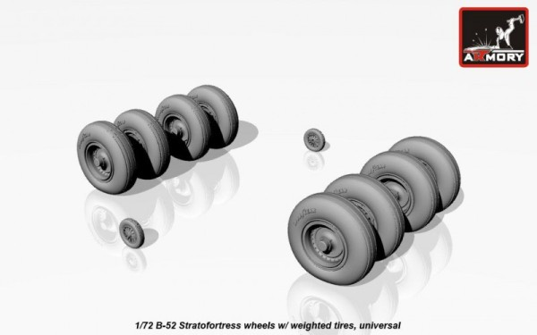AR AW72316   1/72 B-52 Stratofortress wheels, weighted (thumb17306)