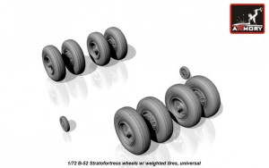 AR AW72316   1/72 B-52 Stratofortress wheels, weighted (attach2 17306)