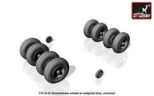 AR AW72316   1/72 B-52 Stratofortress wheels, weighted (attach3 17306)