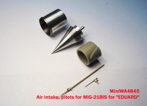 "MiniWA4845    Air intake, pitots for MiG-21BIS for ""EDUARD"" (attach2 15659)"